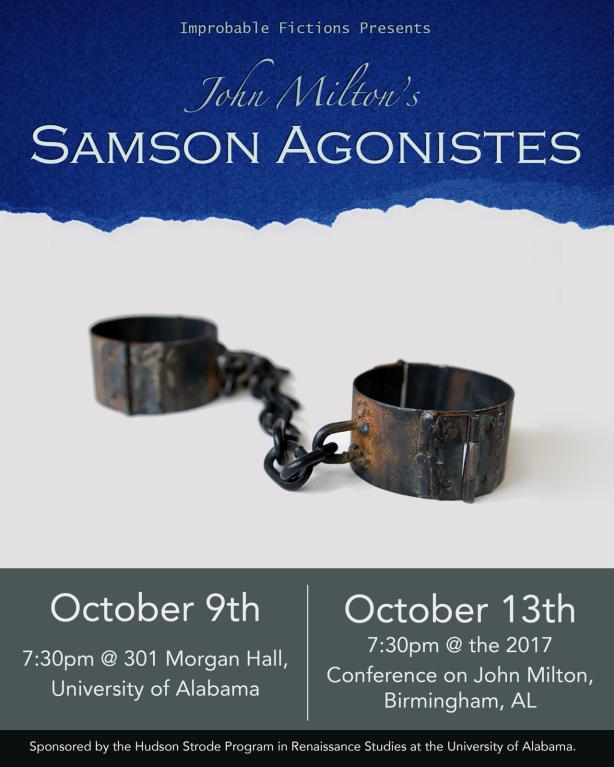 Samson Agonistes, Oct 2017 poster